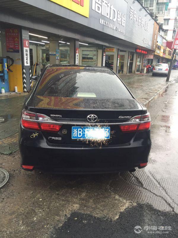 出售丰田凯美瑞2015款 自动天窗 真皮 黑色