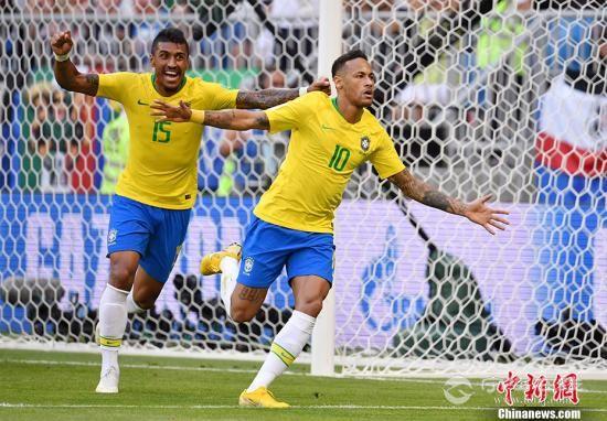 内马尔菲尔米诺破门 巴西2:0胜墨西哥晋级八强1.jpg